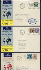 UK GB SOUTH AFRICA CEYLON 1952 BOAC 3 FIRST FLIGHT COVERS LONDON & JOHANNESBURG
