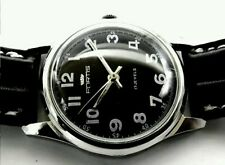 FORTIS SWISS MILITARY STYLE MECHANICAL  MENS WATCH~NEW STRAP~SERVICED-UK SELLER