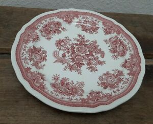4 Stück Villeroy & Boch Teller Essteller Fasan rot Vitro-Porzellan 24 cm