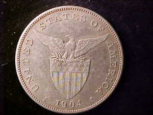 PHILIPPINES ONE PESO 1904-S