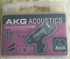 AKG ACOUSTIC D22 / XLR DYNAMIC MICROPHONE NEW IN BOX CCS CRYSTAL CLEAR SOUND