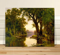 "Australian Art CANVAS PRINT 8x12"" HR Johnstone A billabong of Goulbourn River"