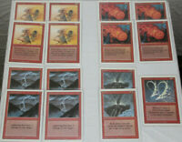 MTG Revised Red Playsets Lot: Lightning Fireball Disintegrate Smoke Manabarbs