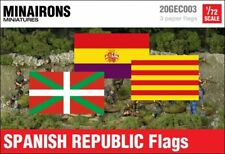 Minairons 1:72 Spanish Republic institutional flags - 20mm Spanish Civil War