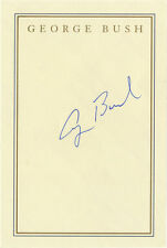 Superb & Pristine, President George H. W. Bush Signed, Personal Book Plate
