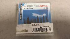 72572 Hama Filtre polarisant circulaire Traité Noir 72mm *NEUF*