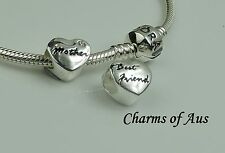 GENUINE Pandora bracelet all sizes + Mum / Best Friend charm. Mothers Day gift
