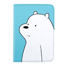 WE BARE BEARS ICEBEAR Passport  ID Holder Protect Case Wallet Cute Anime