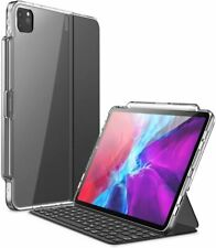 For iPad Pro 12.9 2020 Clear Case Cover for Smart Keyboard Folio with Pen Holder