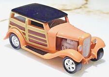 Johnny Lightning Woody Wagon Pink w/Panel Doors 1:64 Scale Diecast