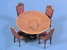 Verlinden 1/35 Dining Room Furniture (Round Table with 4 Chairs) Trophy 20040