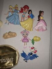 Disney Princess Rubber Roll Magiclip Lot And Other Toys