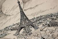 Animation Ink Eiffel Tower Paris Background Layout Disney Animator Roy Wilson