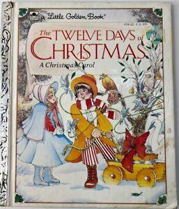 The Twelve Days of Christmas Little Golden Book 1983 HC Christmas Carol