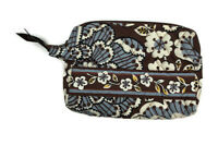 Vera Bradley Slate Blooms Small Cosmetic Bag Travel Case Retired