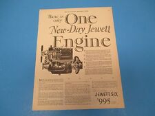 1926 Print Ad, New-Day Jewett Engine, auto, car engine, there is only one, PA015