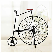 Iron Bucket Bicycle Handmade Model Vintage Bicycle TableTop