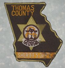 "Thomas County Sheriff's Dept Patch - Georgia - 4"" x 4 1/2"""