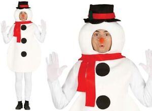 Snowman costume for men large size fancy dress- Christmas fun