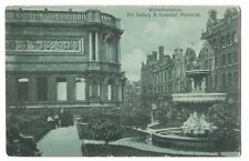 Wolverhampton, Art Gallery & Horsman Memorial PPC, 1905 Birkenhead 7 PMK