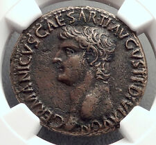 Germanicus Julius Caesar 37AD Rome by Caligula Ancient Roman Coin NGC XF i61206