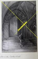 Lithografie Norwich Cathedrale um 1880 (24783)