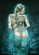 Tattoo n' Veil Fabric Poster Print by Luis Royo, 30x40