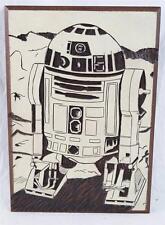 Vintage Star Wars R2-D2 Woodcut Wood Block Print Die Original Artwork