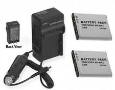 Two 2 NP-BK1 Batteries + Charger for Sony DSC-S750 DSC-S780 DSC-S950 DSC-S950P