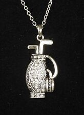 GOLF BAG NECKLACE WITH CRYSTALS