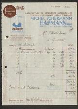 """PARIS (III°) USINE VETEMENTS impermeables """"Michel SCHERMANN / HAYMANN Succ"""" 1935"""