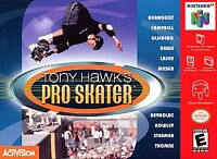Tony Hawk's Pro Skater (n64) Authentic! Tested! Cleaned Pins!