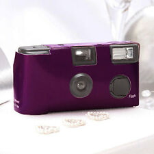 10 Dark Purple Disposable Wedding Table Camera Cameras Lot Q17284