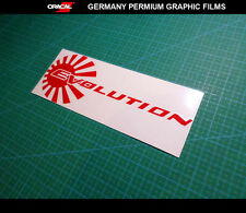 JDM LOGO EVOLUTION MITSUBISHI SPORT RALLYART EVO LANCER Car vinyl DECAL Sticker
