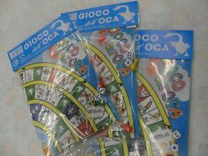 3 pezzi GIOCO DELL'OCA classico marca Stella con istruzioni dadi e pedine