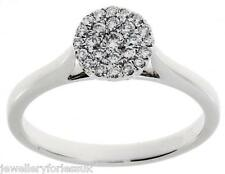 18Carat White Gold Round Pave Set Cluster Diamond Ring 0.25 carats GSI1
