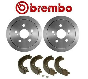 For Toyota Corolla '02-'08 Rear Brake Kit Drums 200mm 4 Lugs & Shoes Set Brembo