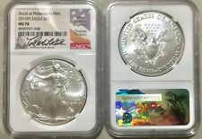 2017P (Struck at Philadelphia Mint) SILVER EAGLE NGC MS 70 SIGNED Charles Vicker