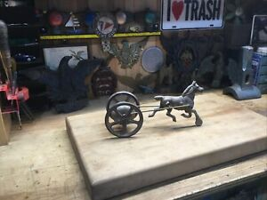 Antique Horse And Bells Metal Pull Toy
