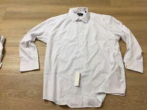 mens jones new york slim fit button up dress shirt XL 17 17.5 32 33 polka dot