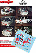 DECALS 1/43 REF 519 TRABANT KAHLFUSS RALLYE MONTE CARLO 1993 RALLY WRC
