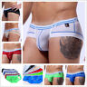 Summer Men Briefs Boxer Trunks Ice Silk Breathable Underpants Underwear Seamless
