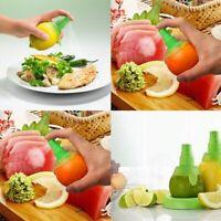 2 Pc Lemon Juice Sprayer Citrus Spray Hand Fruit Juicer Lime Squeezer U8V4 X1I3