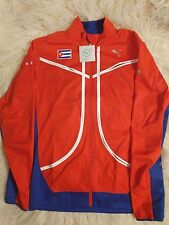 red & blue puma vented sports jacket large