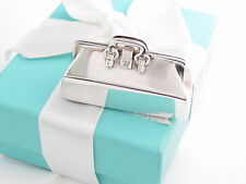 New Tiffany & Co Sterling Silver Doctor Medical Bag Pill Box Case Box Pouch Card