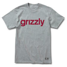 Grizzly Diamond Supply Men S/S T-Shirt LOWERCASE Skate GREY Streetwear S-XL $30