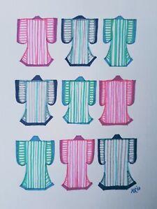 Original A5 Ink Illustration 'Kimonos' by Michelle Ranson