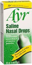 Ayr Saline Nasal Drops 50 mL (Pack of 9)