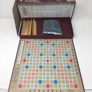 Vintage 1982 SCRABBLE Game Selchow & Righter Board Tiles Holders Crafts