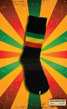 Black Socks With Red Gold and Green Stripe Roots Rasta Reggae Jamaica